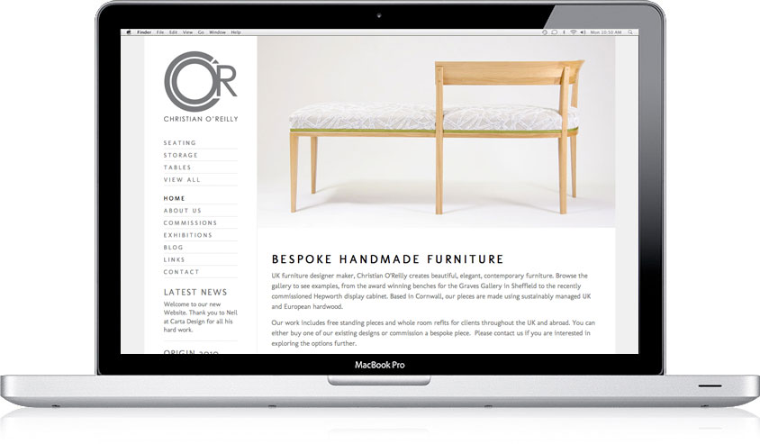 Christian O'Reilly website design