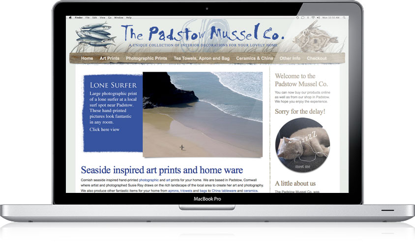The Padstow Mussel Co. website design