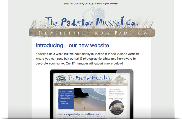 The Padstow Mussel Co. / newsletter