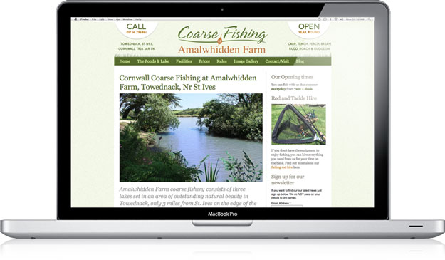 Amalwhidden Farm Coarse Fishery website