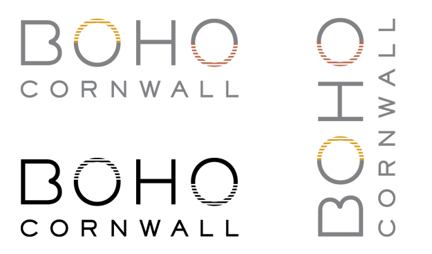 BOHO Cornwall logo design