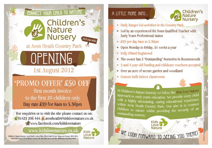 Children's Nature Nursery / Leaflet Design