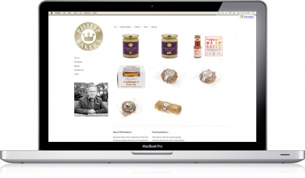 Philip Baker's Foods Ltd website image