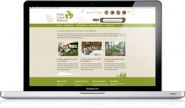 Lids Love Nature Nursery Website Design