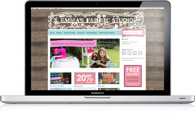 Emma's Fabric Studio / website design