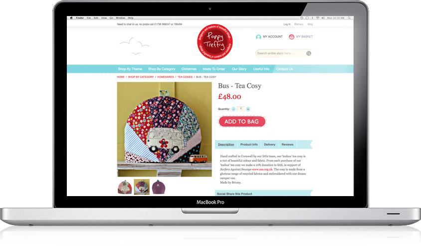Poppy Treffry / Website Design