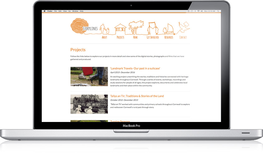 Storylines / Website Design
