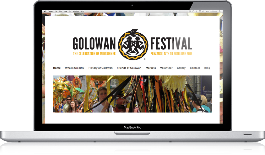 Golowan Festival 2016 / Website Design