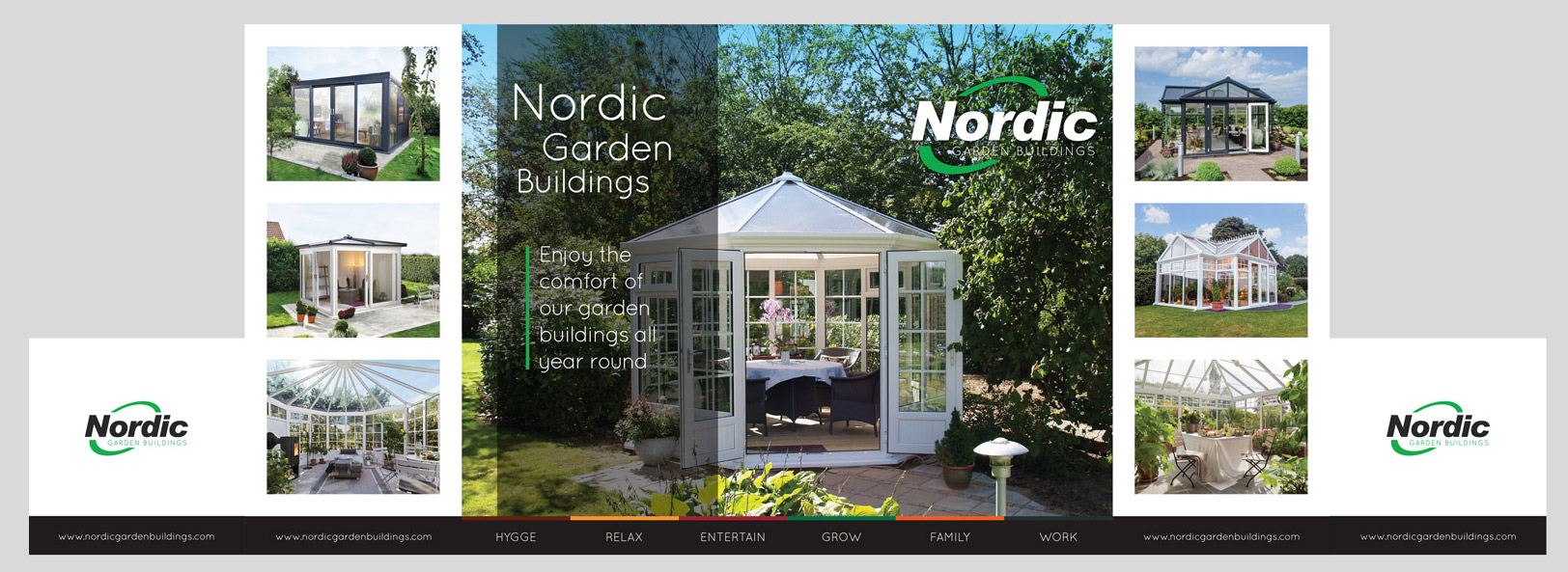 Nordic Garden Buildings / Exhibition Stand Graphics