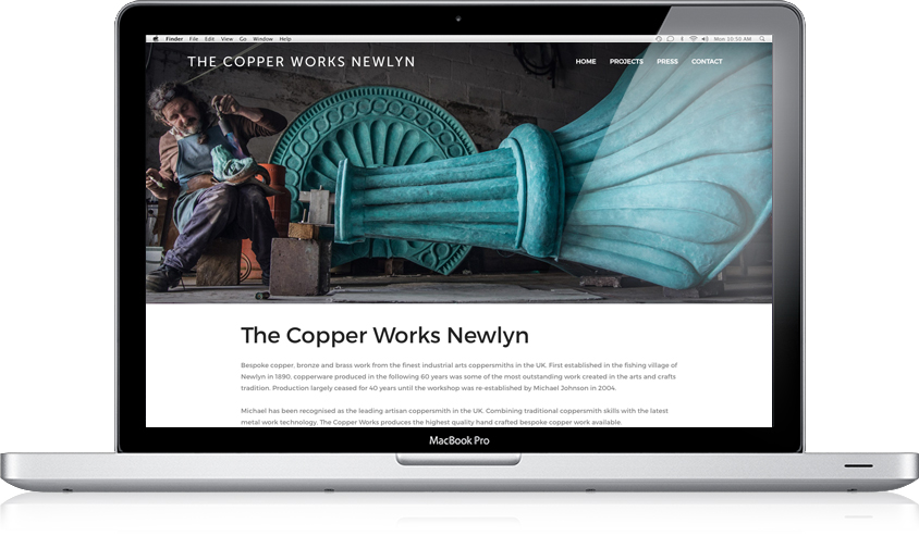 The Copper Works Newlyn / Website design