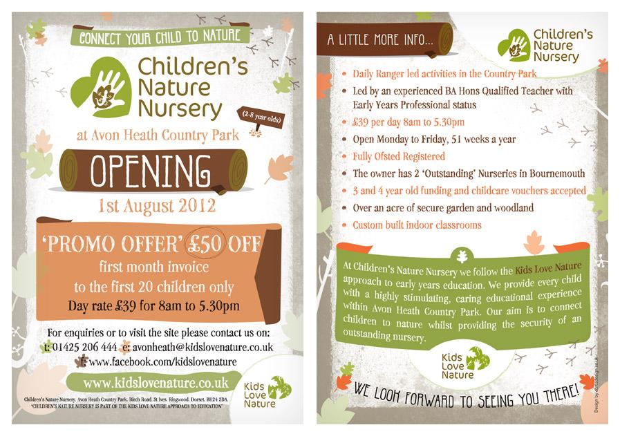 Children's Nature Nursery / Leaflet Design