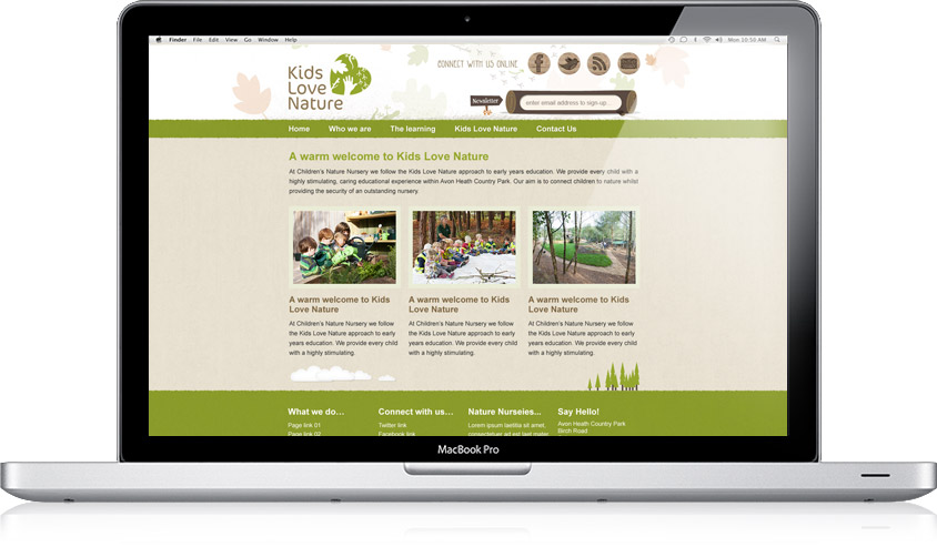 Kids Love Nature / Website Design