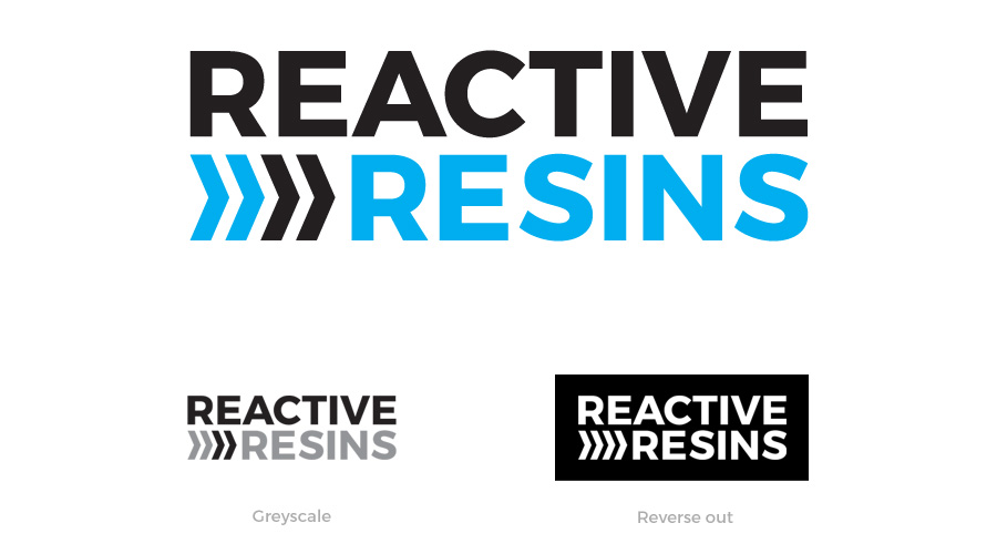 Reactive Resins / Logo identity