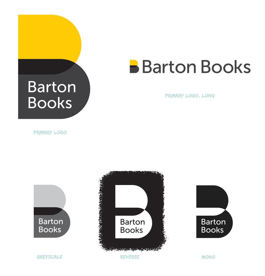 Barton Books / Brand logo design